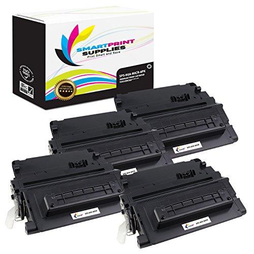Smart Print Supplies Compatible 90A CE390A MICR Black Toner Cartridge Replacement for HP Laserjet Enterprise 600 M4555 M601 M602 M603 Printers 10000 Pages - 4 Pack