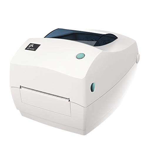 Zebra - GC420t Thermal Transfer Desktop Printer for labels Receipts Barcodes Tags and Wrist Bands - Print Width of 4 in - USB Serial and Parallel Port Connectivity - GC420-100510-000