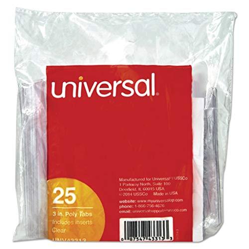 UNV42215 - Width  2 - Universal Hanging File Folder Plastic Index Tabs - Pack of 25