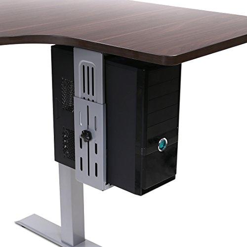 FLEXISPOT Adjustable Computer Mount  Under Desk CPU Mount 180-degree Swivel CPU Holder  Desk and Floor Space Saving