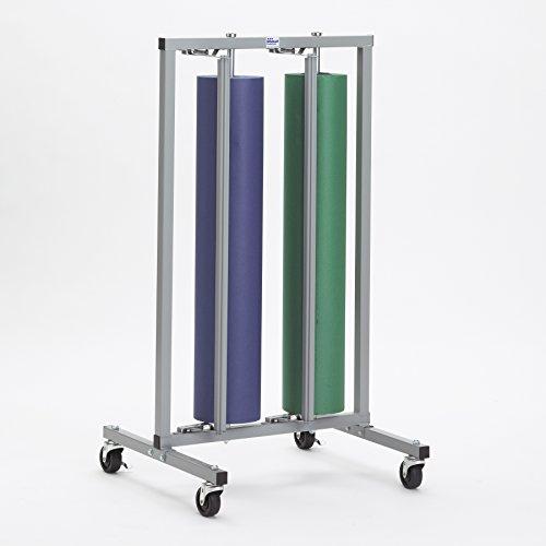 Double Paper Roll Vertical Paper Rack Dispenser 36 for 30 36 - Bulman-R997-36-No Casters