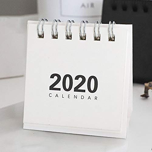 QingZhou 2020 Desk Calendar New Simple Mini Calendar6864cm Creative Desk Vertical Paper Multi-Function Storage Box Timetable Plan Notebook