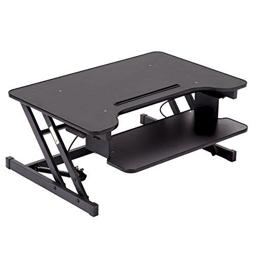 BestOffice 32 Platform Height Adjustable Standing Desk Riser Removable Keyboard Tray