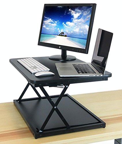 DeskRiser 28in Height Adjustable Stand Up Desk Standing Desk Sit to Stand Desk Riser  Workstation and Desktop Converter
