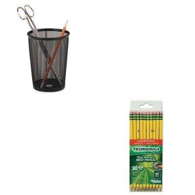 KITDIX13830ROL62557 - Value Kit - Ticonderoga Pre-Sharpened Pencil DIX13830 and Rolodex Nestable Jumbo Wire Mesh Pencil Cup ROL62557