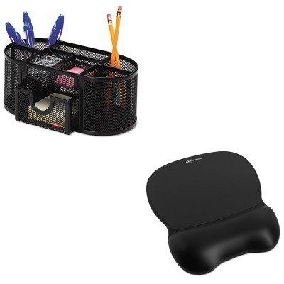KITIVR51450ROL1746466 - Value Kit - Innovera Gel Mouse Pad wWrist Rest IVR51450 and Rolodex Mesh Pencil Cup Organizer ROL1746466
