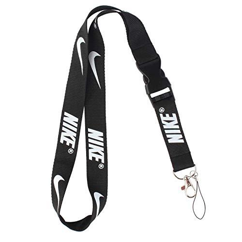 Lanyard Keychain Holder Keychain Key Chain Black Lanyard Clip with Webbing Strap Nike