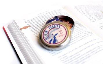 OrangeTag Book Darts - Line Marker Bookmarks Tin of 50 Bronze Book Darts
