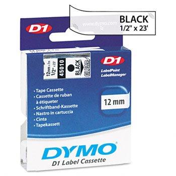 DYMO D1 Polyester High-Performance Label Cartridge CARTRIDGETAPE12BKCR 5262-02 Pack of5