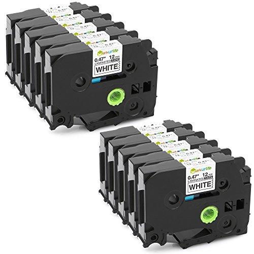 10 Pack Compatible TZe-231 TZe231 TZ-231 TZ231 Label Tape for Brother P-Touch PT-D210 PT-D200 PT-1750 PT-1880 047 262ft Black on White