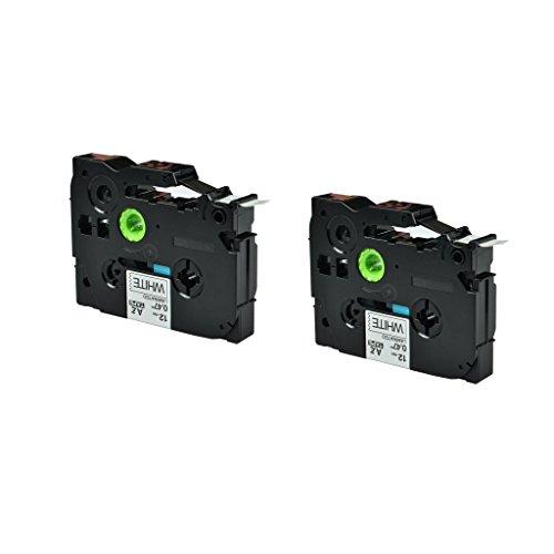 NineLeaf 2PK Label Tape Black on White Compatible for Brother TZe-231 TZ 231 TZe231 TZe 231 P-Touch 047 262ft PT200PT1000PT1010PT1090PT1100PT1120PT1130PT1160PT1170PT1180PT1190