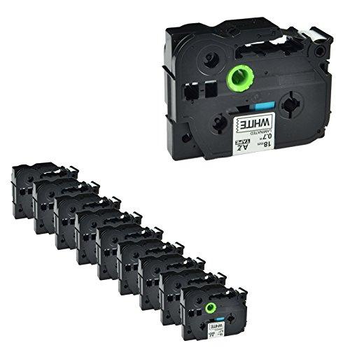NineLeaf 10PK Compatible for Brother P-touch TZ TZe Laminated Tape TZe241 TZ241 Black on White 18mm 34 Inch x 262 ft 8m PT-D400 PT-D600 PT-P700 PT-P750W Label Maker