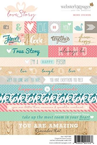 Websters Pages Love Story Word Stickers WSP108D
