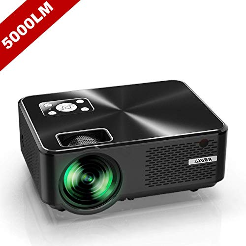 YABER Portable Projector with 5000 Lumen Upgrade Full HD 1080P 200 Display Supported LCD LED Home Outdoor Projector Compatible with Fire TV Stick Smartphone HDMIVGAAV and USB