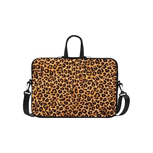InterestPrint Leopard Animal Print Laptop Sleeve Case Bag Tiger Shoulder Strap Laptop Sleeve Notebook Computer Bag 15-156 Inch for Macbook Pro Air Dell HP Lenovo Thinkpad Acer Ultrabook