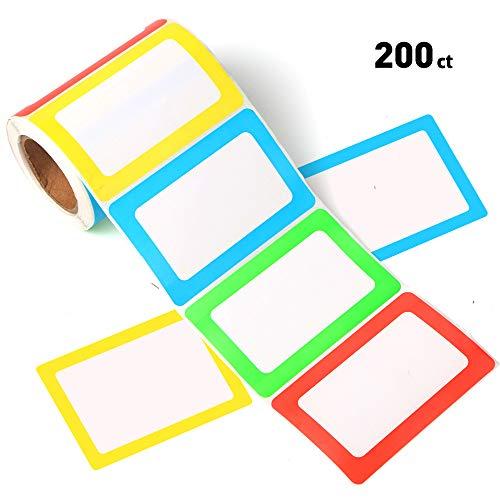 FANGTEK Colorful Plain Name Tag Labels 3 12 X 2 14 200 Stickers