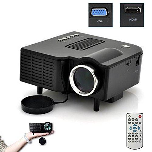 Littleice Mini Portable Home Entertainment Projector Multimedia LED Projector Home Cinema Theater Support AV VGA USB SD HDMI