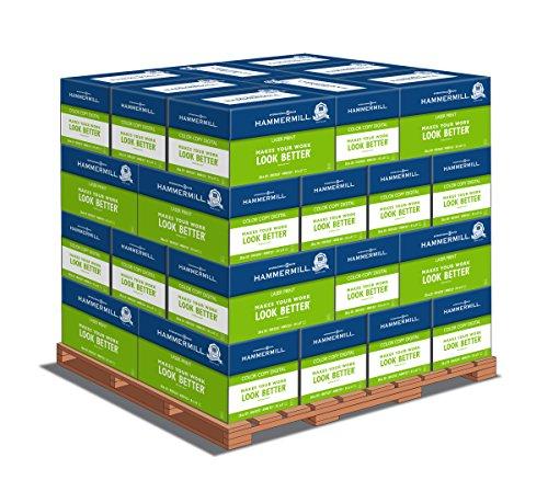 Hammermill Color Copy Letter Paper with Digital Cover 85 x 11 60lb 100 Bright 2500 Sheets per Carton 32 Cartons per Pallet 122549PLT