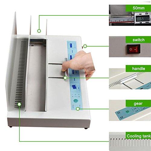 NEW Hot Melt Binding Machine Melt Electric Book Binder for A3 A4 A5 A6 320X50mm