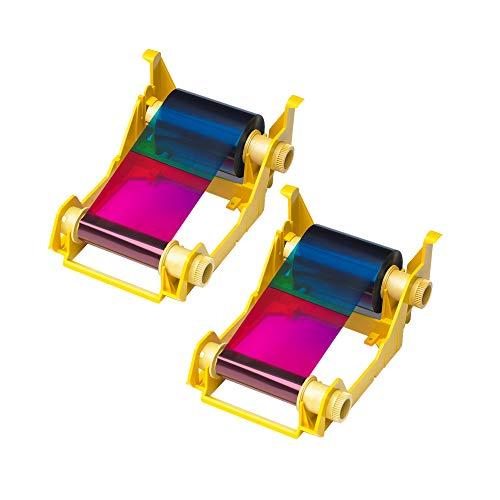 Zebra 2pack-800033-340 True Colours iSeries High-capacity YMCKO Color Ribbon for ZXP Series 3 Card Printers Replaces Zebra 800033-340 560 Total Prints
