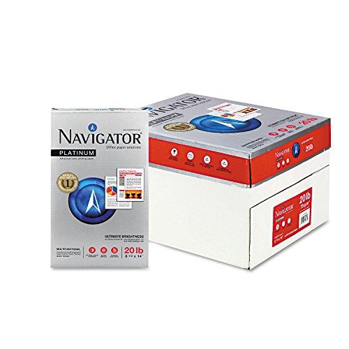 NAVIGATOR NPL1420 Platinum Paper 20-lb 8-12 x 14 Bright White 500 SheetsRm 10 RmsCt