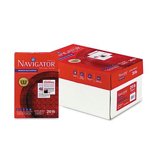 Navigator CopyLaserInkjet Paper 97 Brightness 20 lb 11 x 17 Inches White 2500 Sheets per Carton NMP1720