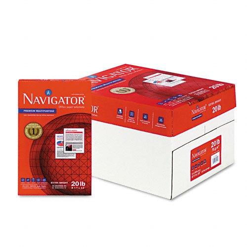 Navigator Premium CopyLaserInkjet Paper 97 Brightness 20 lb Legal Size 85 x 14 White 5000 Sheets NMP1420