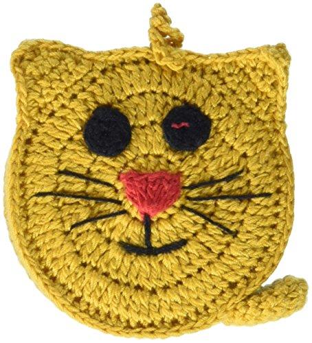 Paradise Exotic Shawl Pin Crocheted Tape Measure 60 -Cat