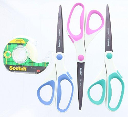 3 pack Scotch Precision Ultra Edge Scissors  Gift Tape