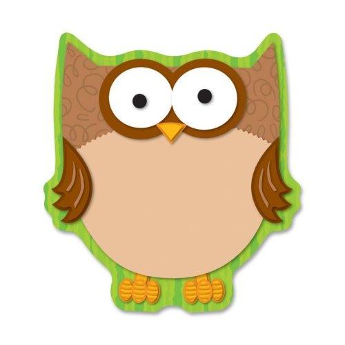 Carson-Dellosa Full-color Owl Notepad - 50 Sheet - 575 x 625 - Multicolor Paper