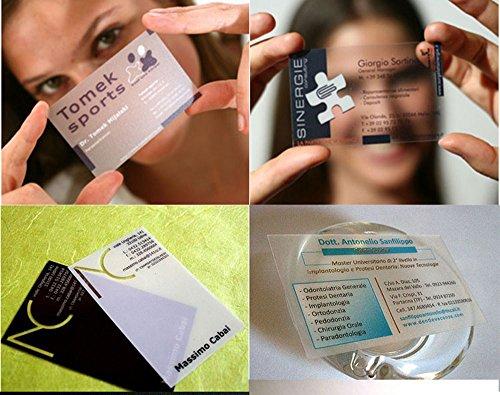 Custom business card printing plastic transparent pvc card printwaterproof namevisiting card