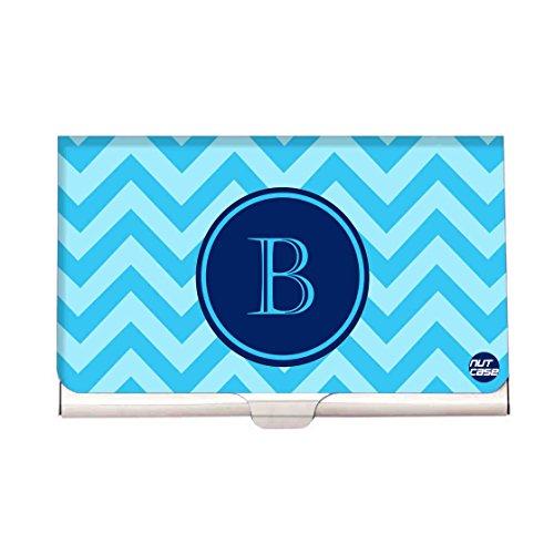 Designer Monogram Visiting Card Holder Nutcase Business Card Holder- INITIAL NAME -B