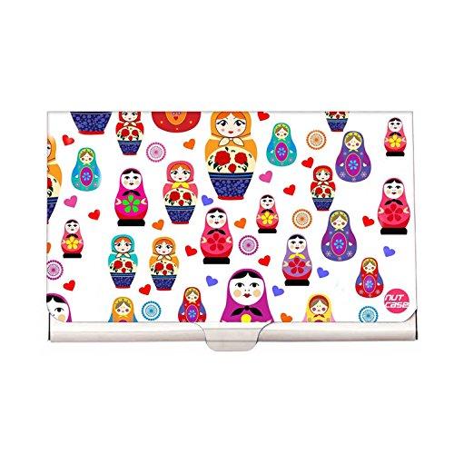 Designer Visiting Card Holder Nutcase Business Card Holder - Cute Babydolls