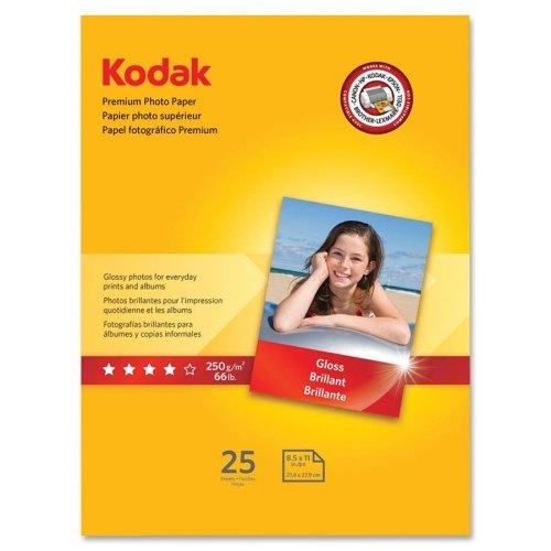 Kodak Premium Photo Paper - Letter - 850quot x 11quot - Glossy - 1  Pack - White