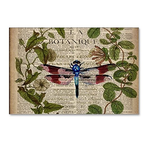 CafePress - Vintage Botanical Dragonf - Postcards Package of 8 6x4 Glossy Print Note Card