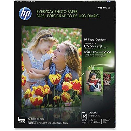 Hewlett Packard HP Q8723A Glossy Everyday Photo Paper 85 x 11