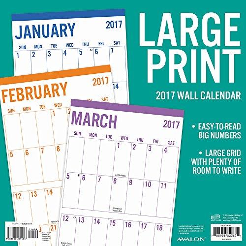 Summit Avalon 2017 Calendar 12 x 12 Wall Basic Large Print  82387
