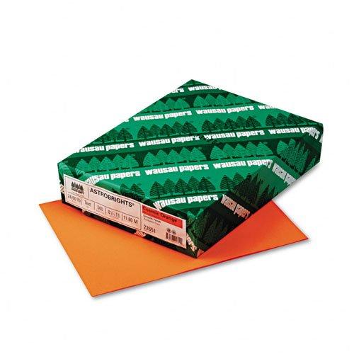 Wausau Paper  AstroBright Color LaserInkjet Paper Cosmic Orange 24lb Letter 500 Sheets -- Sold as 2 Packs of - 500 -  - Total of 1000 Each