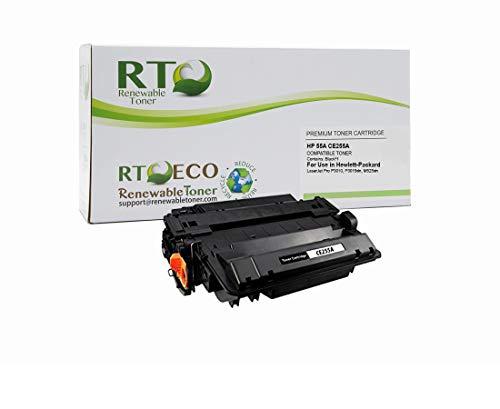 Renewable Toner Compatible Toner Cartridge Replacement for HP 55A CE255A Laserjet Pro P3010 P3015dn M525dn Black