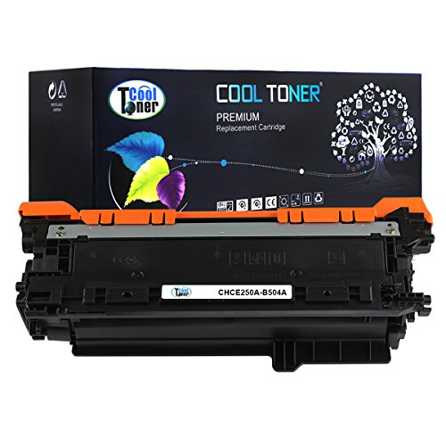 Cool Toner CHCE250A-B504A Compatible Toner Cartridge Replacement for HP CE250A 504A Black