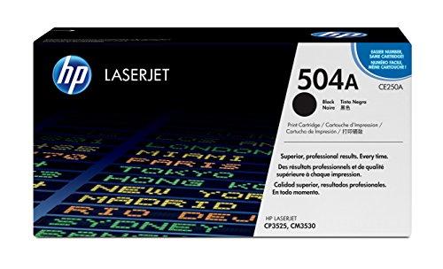 HP 504A CE250A Black Original LaserJet Toner Cartridge