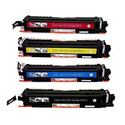 YATUNINK CE310A CE311A CE312A CE313A Compatible126A Toner Color LaserJet Pro100 MFP M175nw CP1025nw M275