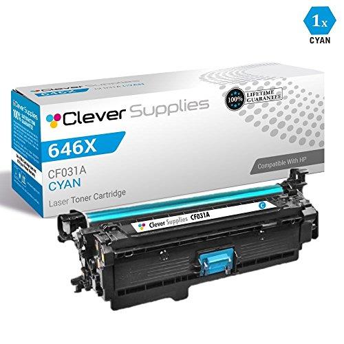 CS Compatible Toner Cartridge Replacement for HP Enterprise CM4540 MFP CF031A Cyan HP 646A Color Laserjet CM4540 Color Laserjet Enterprise CM4540fskm MFP Color Laserjet CM4540 MFP