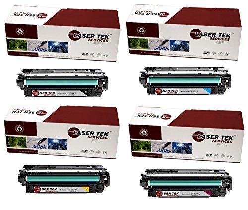 Laser Tek Services Compatible Toner Cartridge Replacement for HP 646X 646A CE264X CF031A CF033A CF032A Black Cyan Magenta Yellow 4-Pack