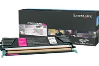 Lexmark Magenta Toner Cartridge - Magenta - Laser - 4000 Page Black 3000 Page Color - C5222MS