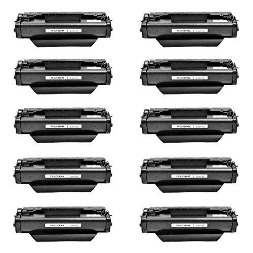 NineLeaf Compatible C3906A 06A Laser Toner Cartridge Replacement for LaserJet 5L 5L xtra 5L-FS 6L 6Lse 6Lxi 3100 3100se 3100xi 3150 3150se 3150xi Printer Black10 Pack