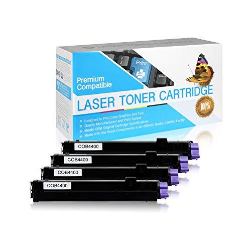 USA Advantage Compatible Toner Cartridge Replacement for Okidata Type 9  B4400  43502301 Black4 Pack
