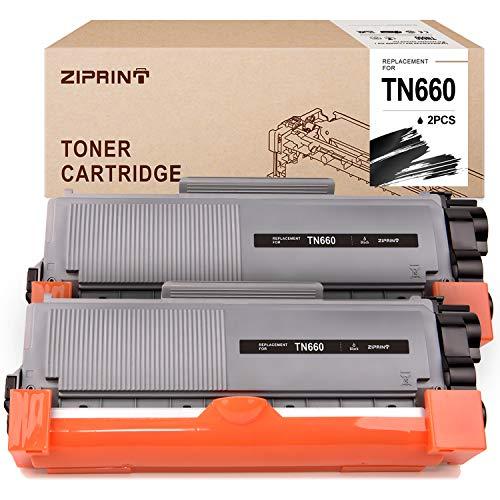 Ziprint Compatible Toner Cartridge Replacement for Brother TN660 TN630 for HL-L2380DW HL-L2300D HL-L2340DW MFC-L2700DW MFC-L2720DW MFC-L2740DW DCP-L2520DW DCP-L2540DW Printer Black 2-Pack
