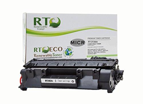 Renewable Toner 80A Compatible MICR Toner Cartridge Replacement HP CF280A for HP LaserJet Pro 400 M401 M425 Printer Series