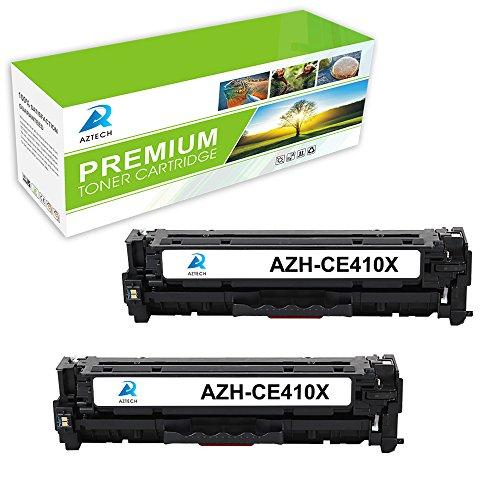 AZTECH 2 Pack 4000 Pages Yield Black Compatible Toner Cartridge Replaces 305X CE410X CE410 For Color LaserJet Pro 300 M351a MFP M375nw Pro 400 M451dw M451nw M451dn Pro 400 MFP M475dw M475dn